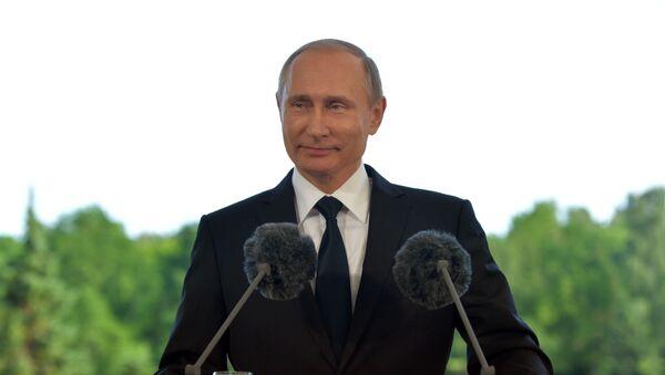 Vladimir Putin během návštěvy Finska - Sputnik Česká republika