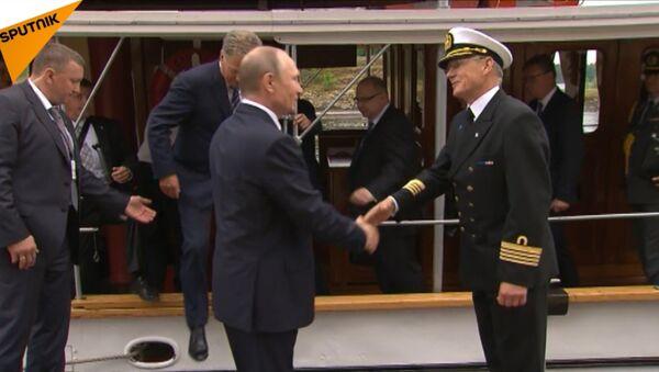 Putin a Niinistö se projeli na parníku - Sputnik Česká republika