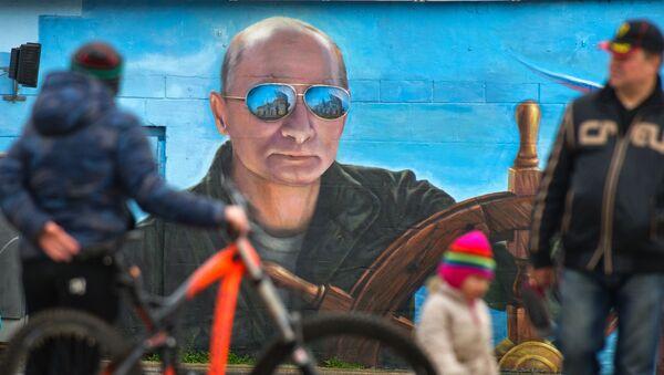 Portrét Vladimira Putina v Jaltě - Sputnik Česká republika