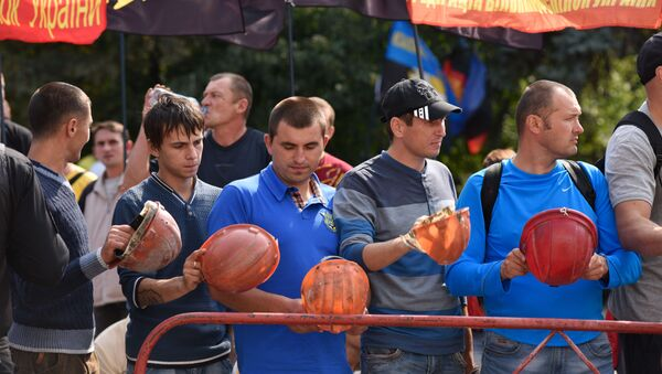 Protestní akce horníků - Sputnik Česká republika