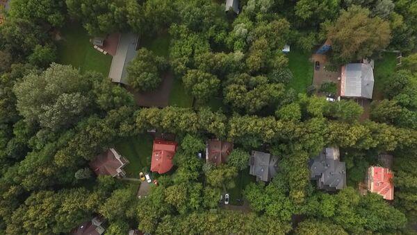 Dron natočil americkou chatu v Moskvě, ke které bude omezen přístup - Sputnik Česká republika