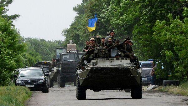 Ukrajinští vojáci v DLR - Sputnik Česká republika
