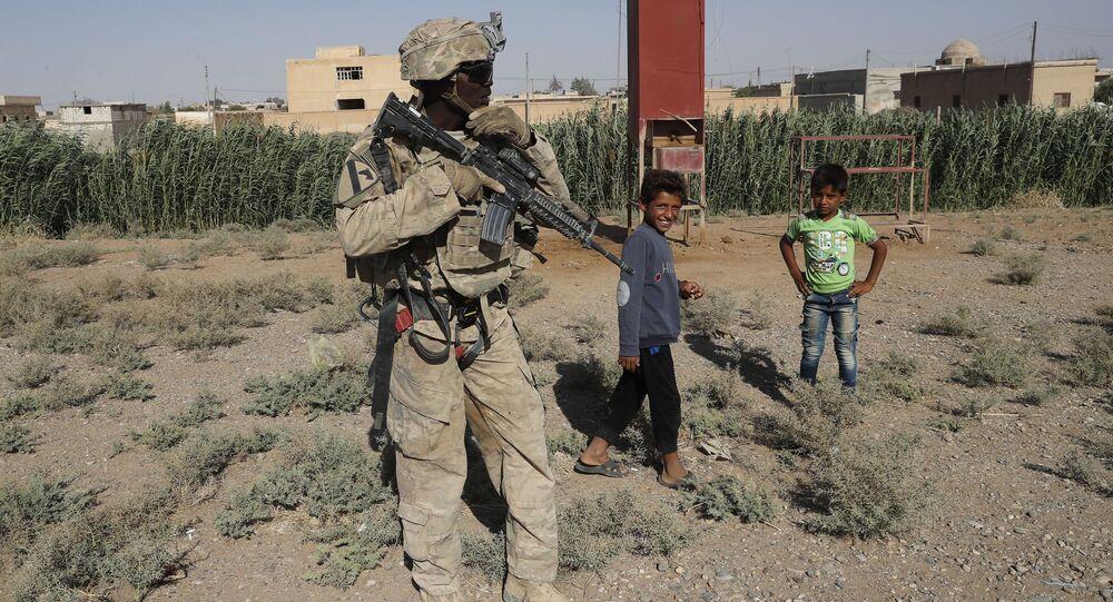 Americký voják v Sýrii. Ilustrační foto