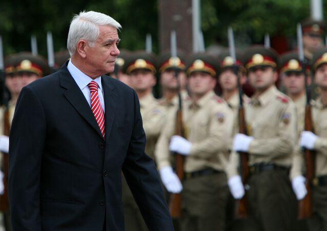 Ministr zahraničních věcí Rumunska Teodor Meleşcanu
