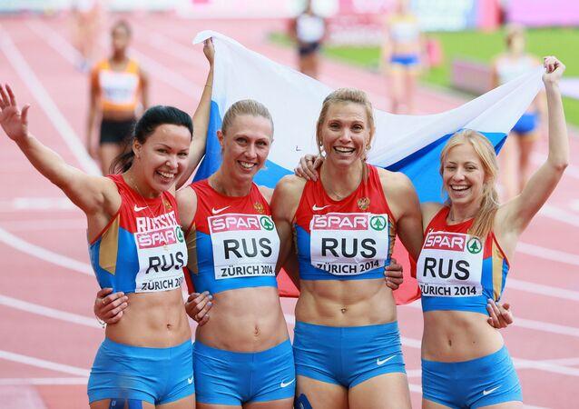 Ruské běžkyně. Archivní foto
