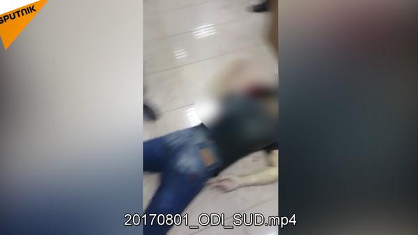 Bylo publikováno video z místa přestřelky v Moskevském oblastním soudu - Sputnik Česká republika