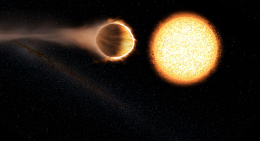 Umělec zobrazil planetu WASP-121b