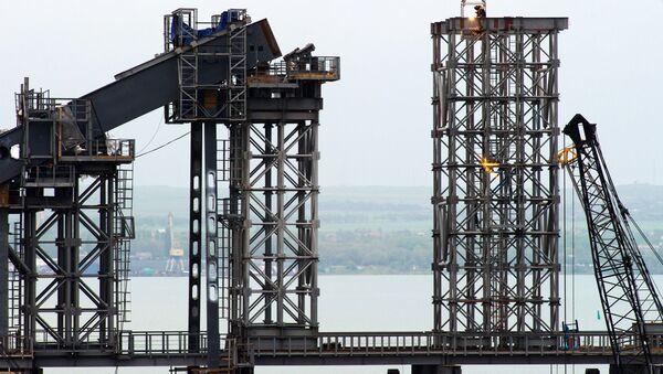 Stavba mostu na Krymu - Sputnik Česká republika