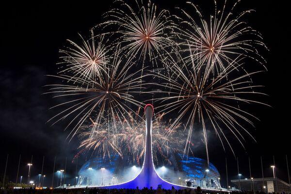 Vylučovací etapa Světové soutěže ohňostrojů v Soči - Sputnik Česká republika