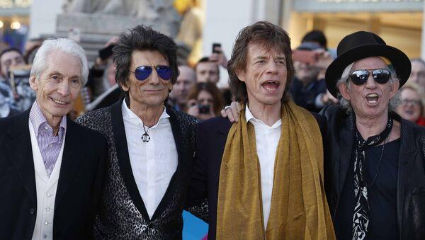 Skupina The Rolling Stones: Charlie Watts, Ronnie Wood, Mick Jagger and Keith Richards. - Sputnik Česká republika