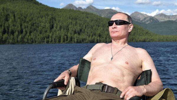 Ruský prezident Vladimir Putin v Tyvě - Sputnik Česká republika