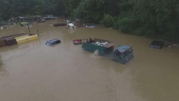 Velké povodně v Přímoří: záběry z dronu - Sputnik Česká republika