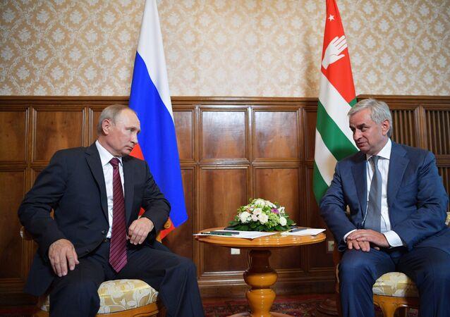 Vladimir Putin a Raul Chadžimba