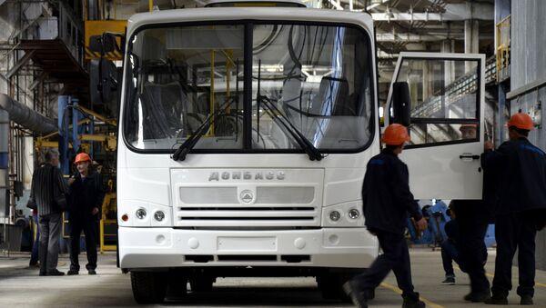 Autobus Donbas vyrobený v DLR - Sputnik Česká republika