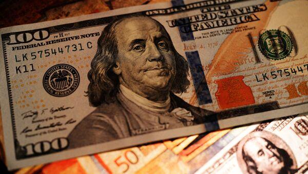 Bankovky dolaru - Sputnik Česká republika