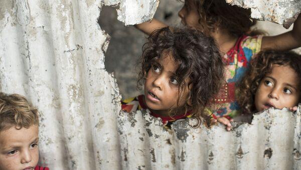 Palestinské děti v Gaze. Ilustrační foto - Sputnik Česká republika