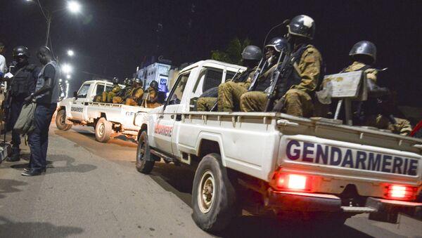 Policie na místě útoku v Ouagadougou, hlavním městě Burkiny Faso - Sputnik Česká republika