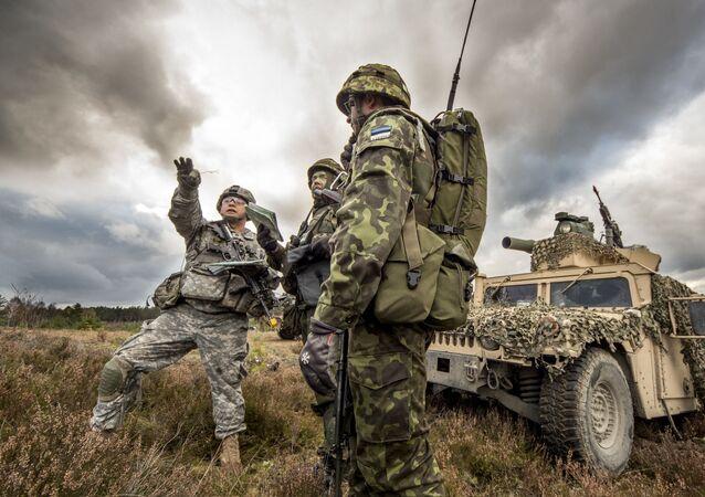 Společná cvičení vojáků USA a Estonska v Polsku. Archivní foto