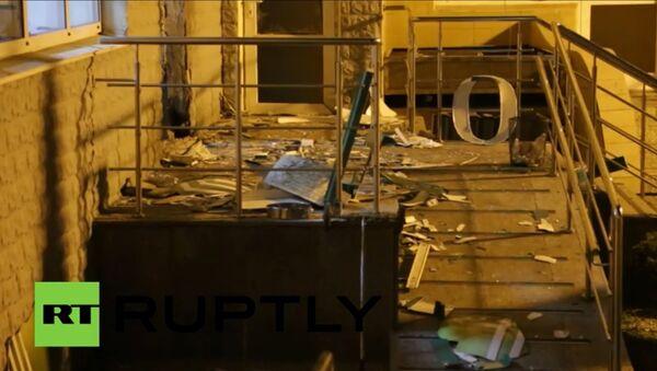 Výsledky výbuchu vedle Sberbanka v Kyjevě - Sputnik Česká republika