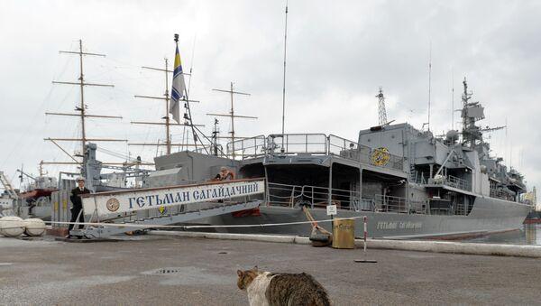 Fregata Hetman Sahajdačnyj - Sputnik Česká republika