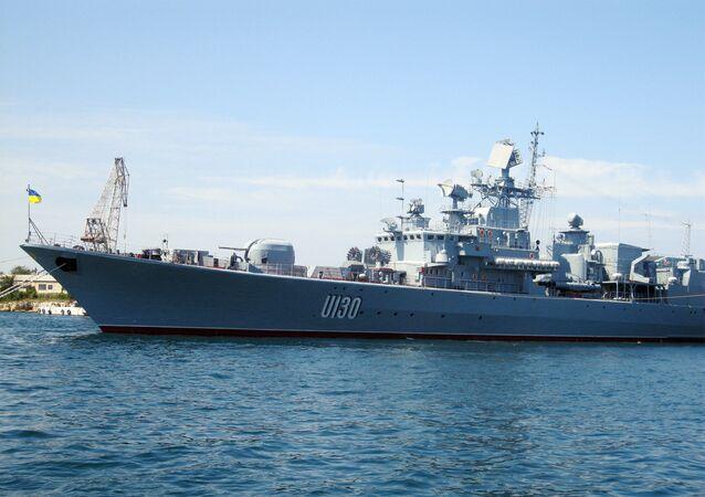 Vlajková loď ukrajinského loďstva Getman Sagajdačnyj