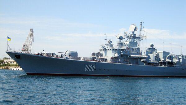 Vlajková loď ukrajinského loďstva Getman Sagajdačnyj - Sputnik Česká republika