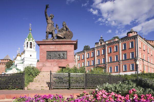 Památník Mininovi a Požarskému na náměstí Národní jednoty v Nižním Novgorodu - Sputnik Česká republika