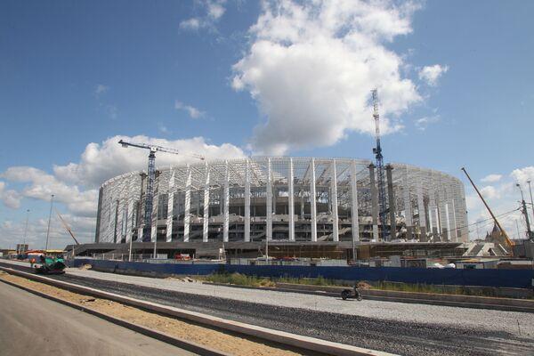 Stavba stadionu Nižnij Novgorod pro Mistrovství světa 2018 v Nižním Novgorodu - Sputnik Česká republika