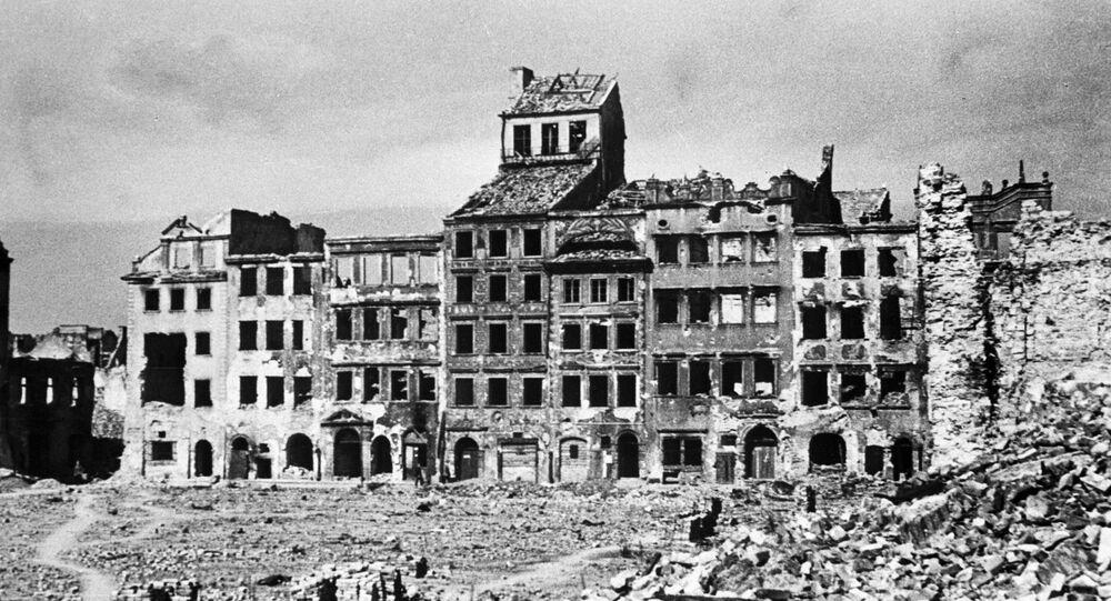 Pohled na Varšavu během 2. světové války