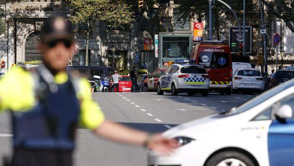La policía en Barcelona tras el atropello - Sputnik Česká republika