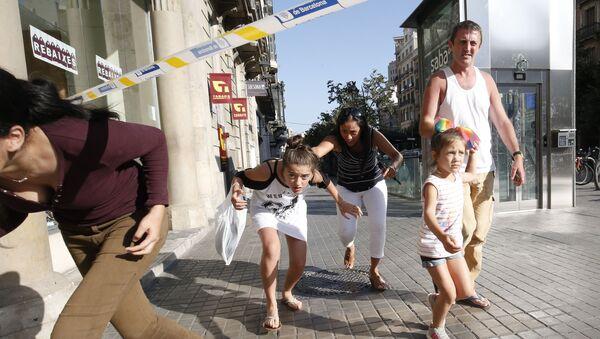 Místo útoku v Barceloně - Sputnik Česká republika