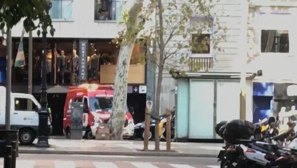 Záběry z místa útoku v Barceloně - Sputnik Česká republika