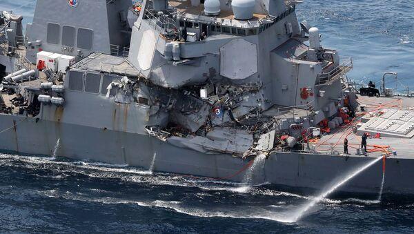 Poškozený torpédoborec Fitzgerald - Sputnik Česká republika
