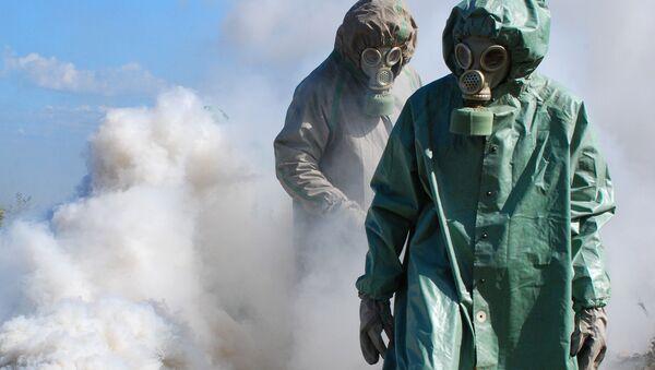 Cvičení proti možným následkům chemického útoku - Sputnik Česká republika