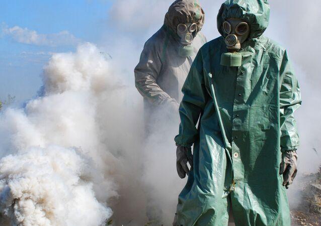 Cvičení proti možným následkům chemického útoku