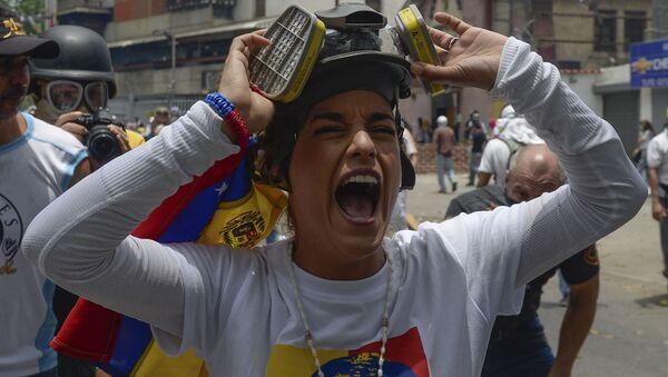 Protivládní protesty v Caracasu - Sputnik Česká republika