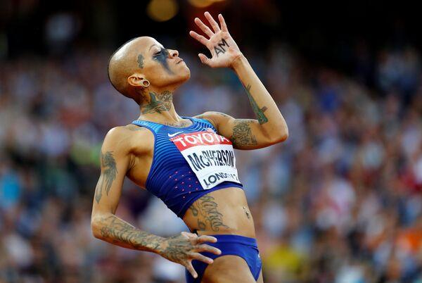 Americká sportovkyně Inika McPherson na MS v atletice v Londýně - Sputnik Česká republika