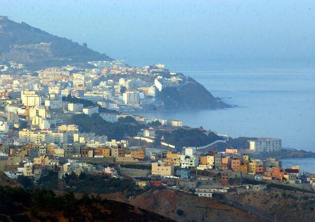 Pohled na město Ceuta