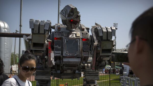 Robot Monkey King na festivalu G-Festival v Pekingu - Sputnik Česká republika