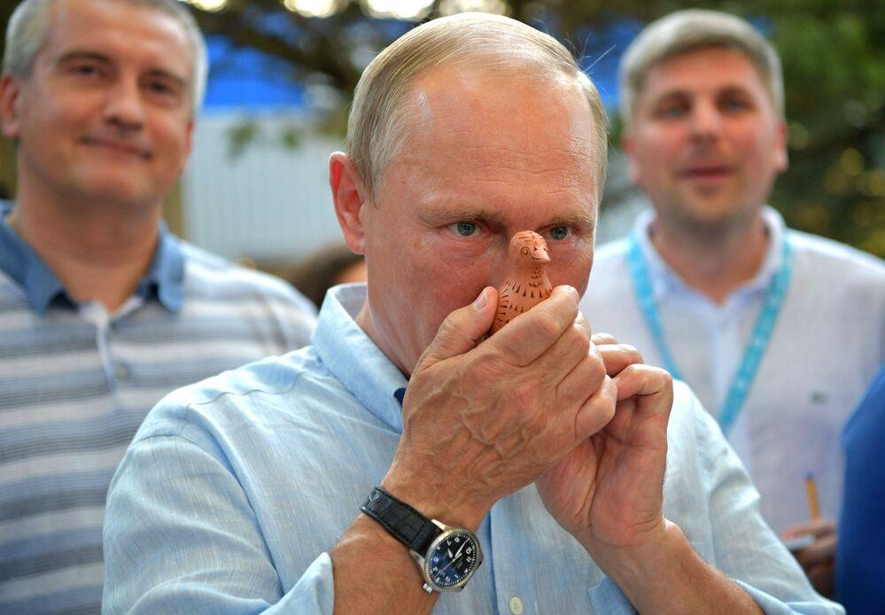 Pracovní cesta Vladimira Putina na Krym