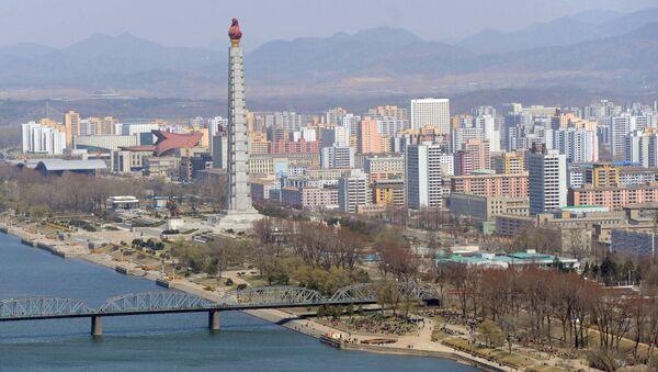 Pohled na Pchjongjang. Ilustrační foto - Sputnik Česká republika