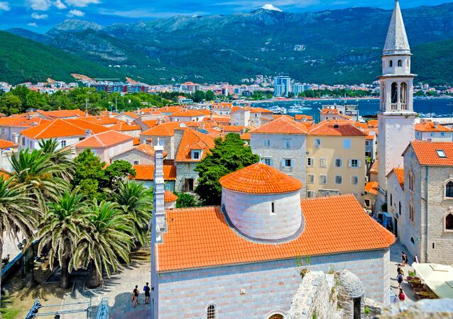 Pohled na Budvu v Černé Hoře