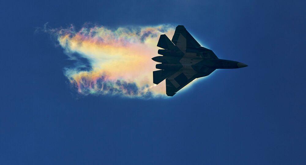 Stíhací letoun Su-57. Ilustrační foto