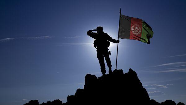 Voják s afghánskou vlajkou - Sputnik Česká republika