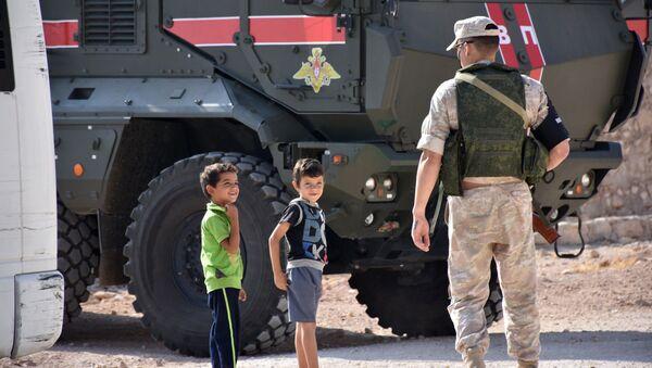 Ruská vojenská policie v Aleppo - Sputnik Česká republika
