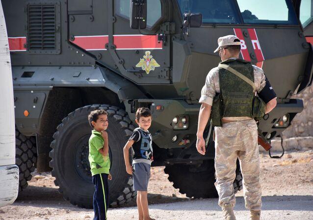 Ruská vojenská policie v Aleppo