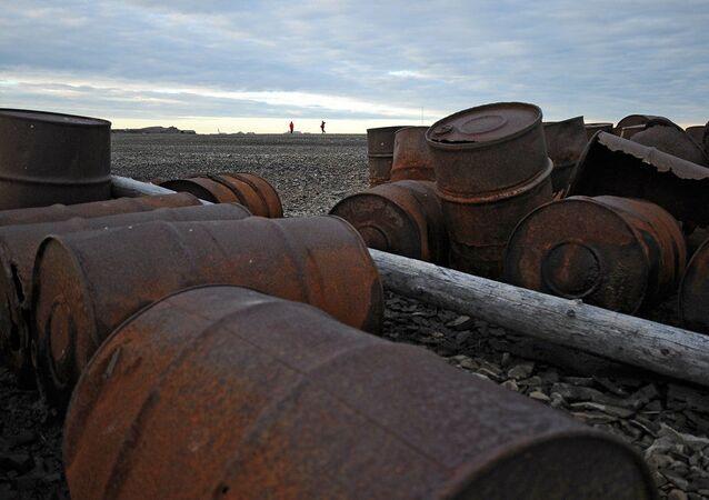 Staré železo na Wrangelově ostrově