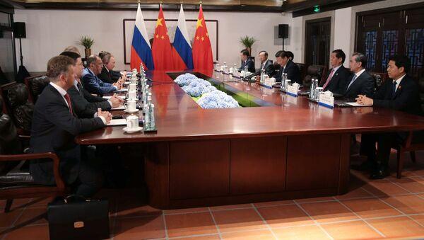 Schůzka lídrů Číny a Ruska Si Ťin-pchinga a Vladimira Putina - Sputnik Česká republika