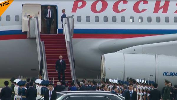 Příjezd Putina do Číny na summit BRICS - Sputnik Česká republika