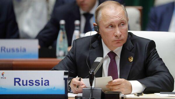 Ruský prezident Vladimir Putin během summitu BRICS - Sputnik Česká republika